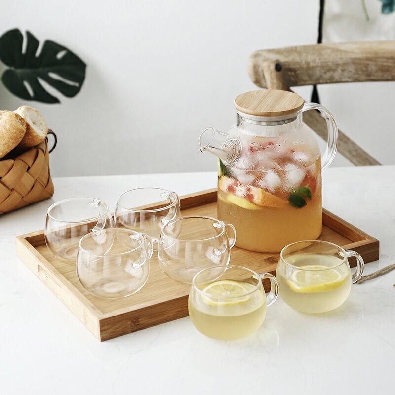 日式玻璃冷水壺套裝耐熱高溫泡茶壺涼開水杯壺家用涼水壺裝水壺杯