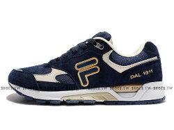 《限時特價1290元》 Shoestw【1J311R318】FILA 1911 復古慢跑鞋 麂皮 深藍白金 男款