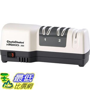 [107美國直購] Chefs Choice 250 電動和手動 三段式磨刀器 Diamond Hone Hybrid Sharpener Combines