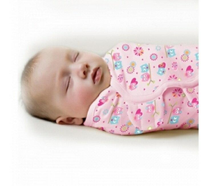 免運-掌櫃取件【寶貝樂園】Summer Infant SwaddleMe懶人包巾0~3m S號 甜蜜貓頭鷹
