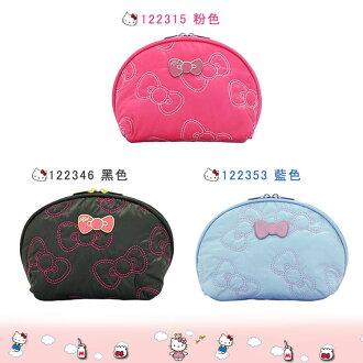 大田倉 日本進口正版 凱蒂貓 Hello Kitty 三麗鷗 化妝包 零錢包 收納包 小物包 粉色 藍色 黑色 122315