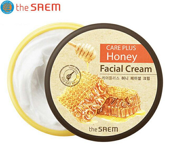 韓國 the SAEM Care Plus 蜂蜜保濕面霜 200ml Care Plus Honey Facial Cream【辰湘國際】
