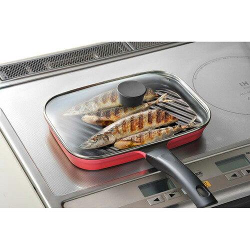 《leye》長型附蓋燒烤鍋