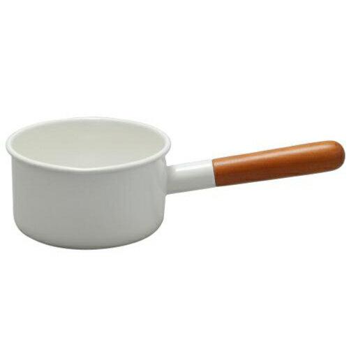 《野田琺瑯》POCHIKA花蕾系列餐具 - 12CM輕食獨享鍋 - 牛奶鍋