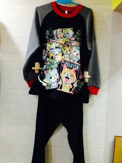 ♥滿載愛♥ 【日本帶回-妖怪手錶睡衣】刷毛保暖衣 110CM/120CM/130CM三種尺寸