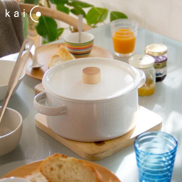 【This-This】日本 kaico 簡約風 琺瑯雙耳鍋