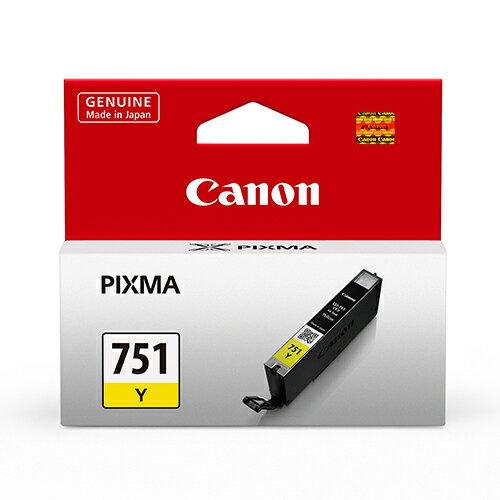【史代新文具】佳能Canon CLI-751Y 黃色原廠墨水匣/ 適用MG-7170
