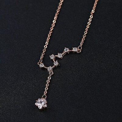 ~純銀項鍊 鍍18K金鑲鑽吊墜~精美花朵 七夕情人節 女飾品2色73dn104~ ~~米蘭