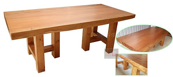 【尚品傢俱】833-07 楠泰爾 馬來西亞檜木全實木全手工7尺大桌/長桌/餐桌/休閒桌