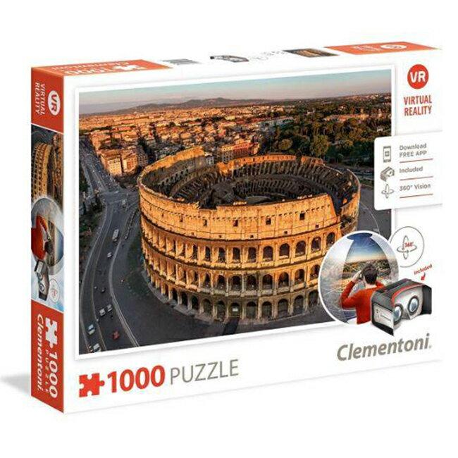 【義大利 Clementoni】VR拼圖-羅馬 Rome(1000pcs) CL39403I (69x50)