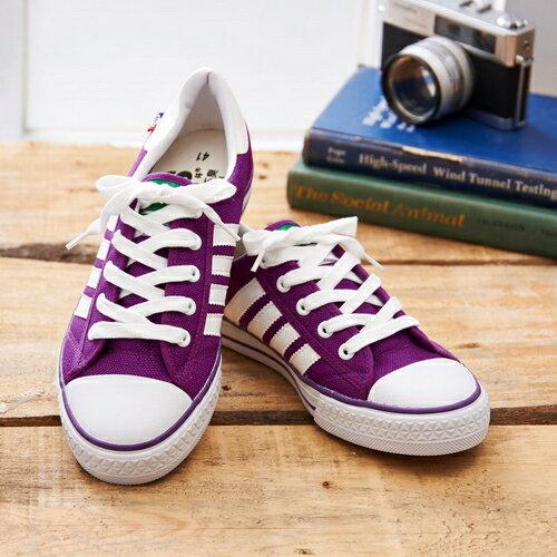 中國強 MIT 休閒帆布鞋CH89紫色 男鞋