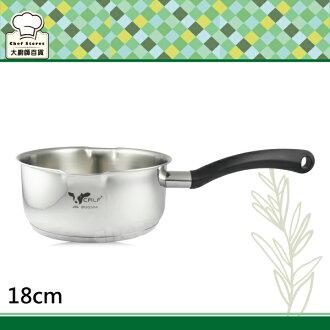 牛頭牌新小牛雪平鍋湯鍋18cm單把牛奶鍋-大廚師百貨