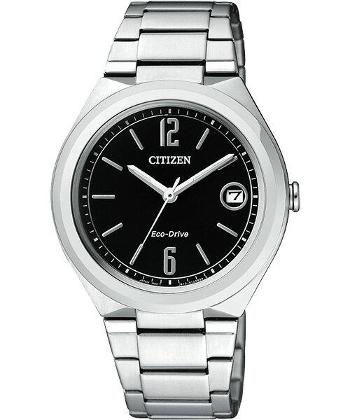 CITIZEN星辰FE6020-56E纖薄大三針光動能女錶/黑面34mm