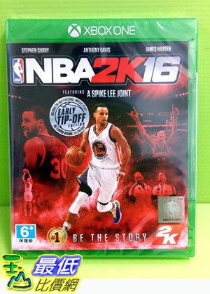 (刷卡價)  XBOX ONE 美國職業籃球 NBA 2K16 繁體中文版 實體版