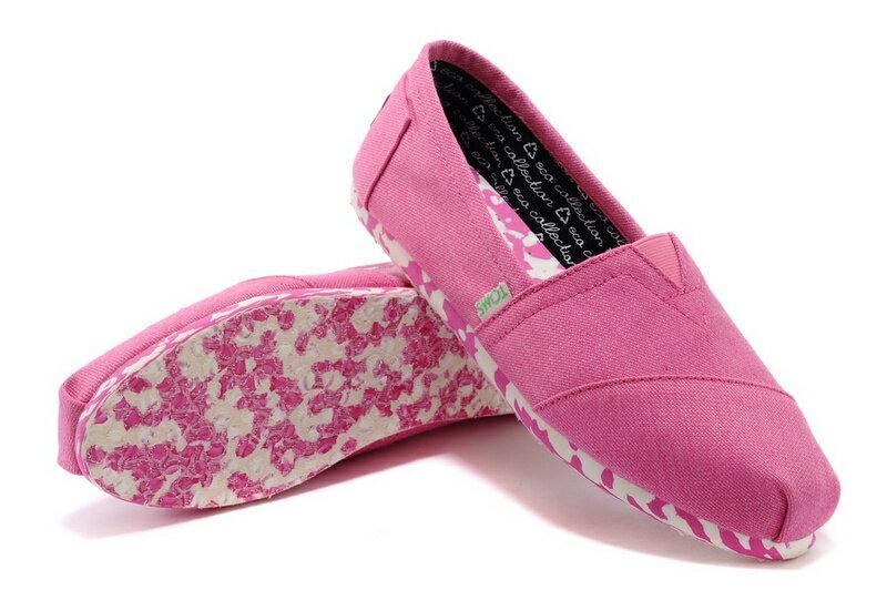 【TOMS】粉紅色花底帆布休閒鞋  Pink Earthwise Women's Vegan Classics 5