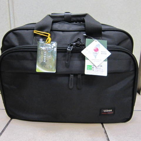 ~雪黛屋~YESON 旅行袋 個人行李箱 大型公事包 可外掛行李箱拉桿上合併使用 #555-18 黑