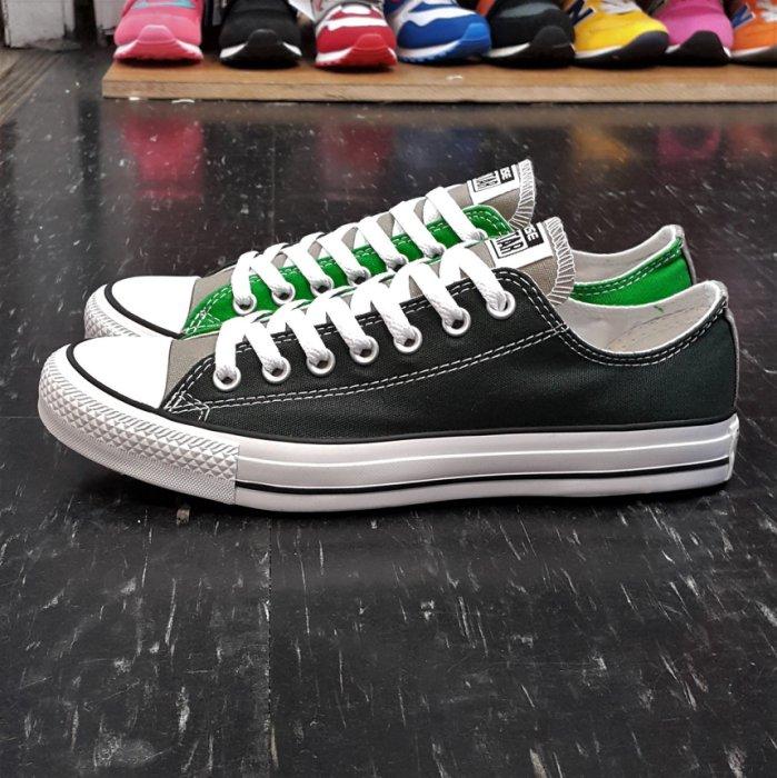 Converse Chuck Taylor All Star 基本款 低筒 帆布 綠色 軍綠色 草綠色 墨綠色 雙色 拼接 143142C