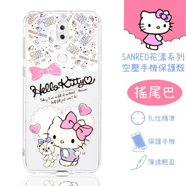 【HelloKitty】ASUSZenFone5Q(ZC600KL)花漾系列氣墊空壓手機殼(搖尾巴)