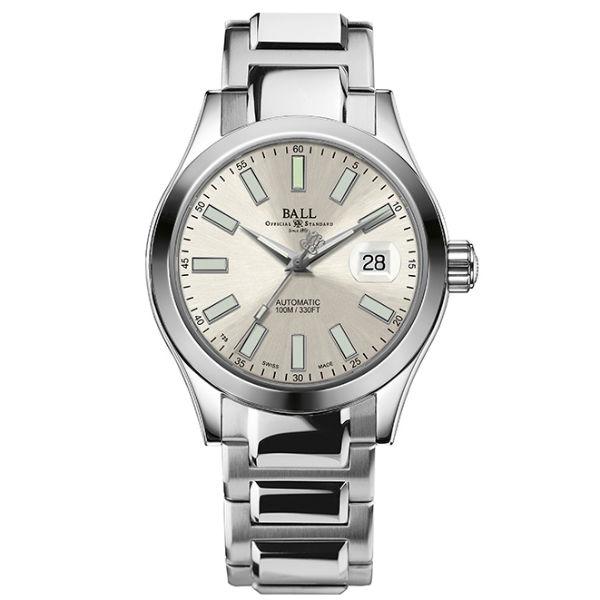大高雄鐘錶城 BALL 波爾錶NM2026C-S6J-SL  Engineer II經典大三針腕錶/ 白面40mm