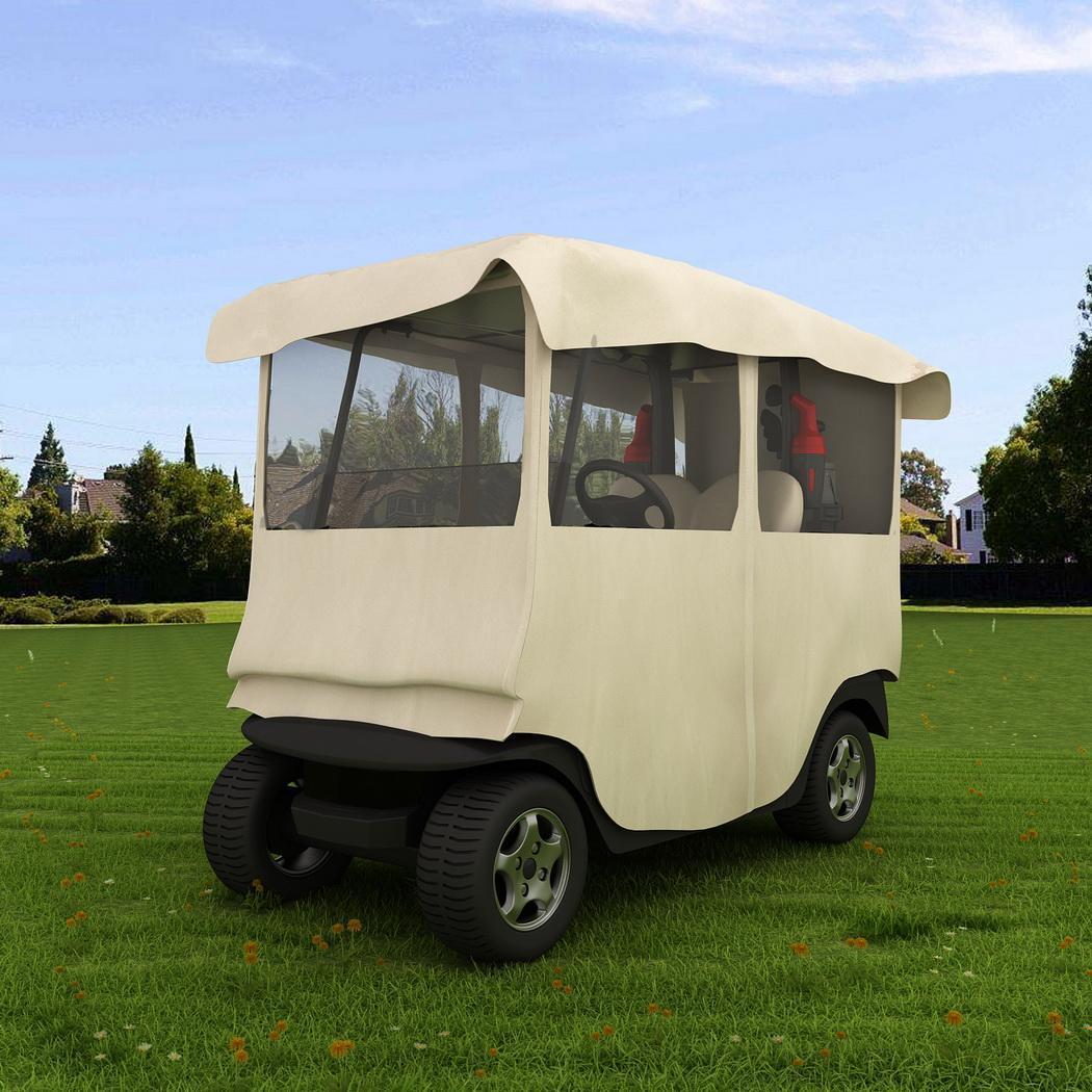 210D Polyester 4 Passenger Golf Cart Cover Storage For EZ GO/ Club Car/ YAMAHA 0