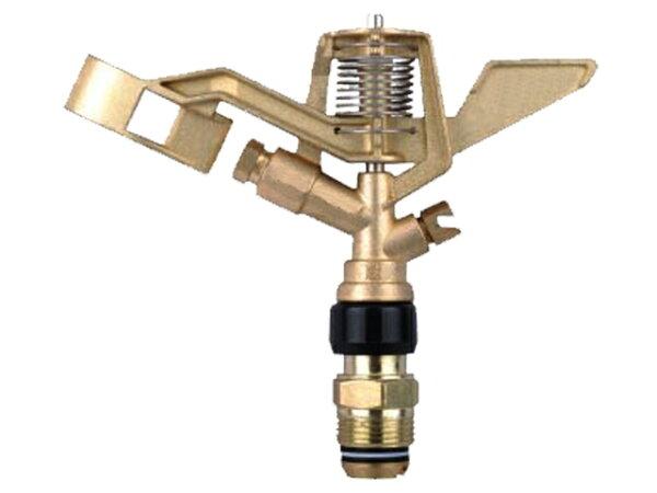 34吋鋅合金外牙(360度旋轉)長短噴灑距離金屬頭