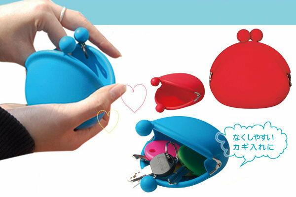 BO雜貨【SV2274】糖果色矽膠零錢包 包中包 零錢 鑰匙 化妝包 香水 零食收納