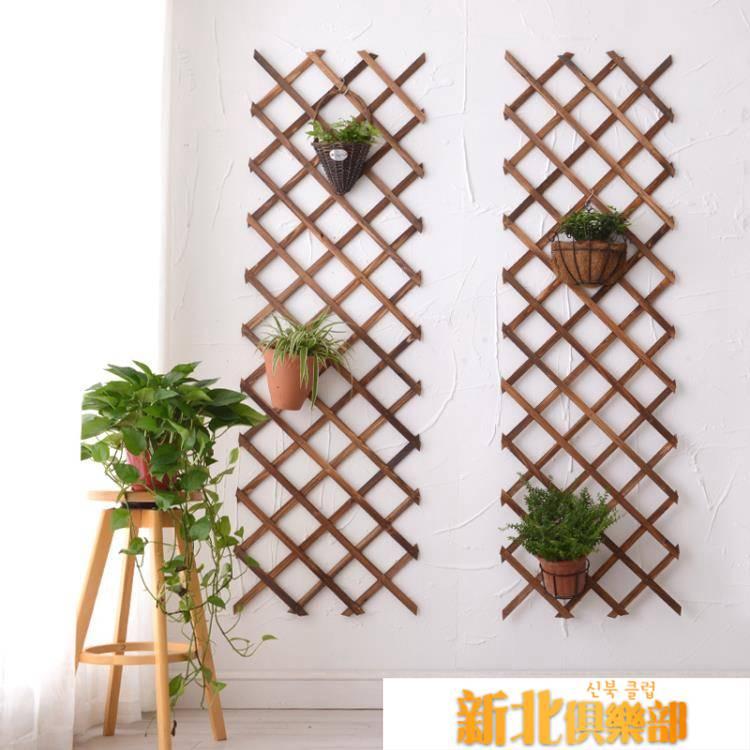 實木網格鐵藝植物掛牆花架壁掛牆上裝飾陽臺牆壁綠蘿懸掛式花盆架