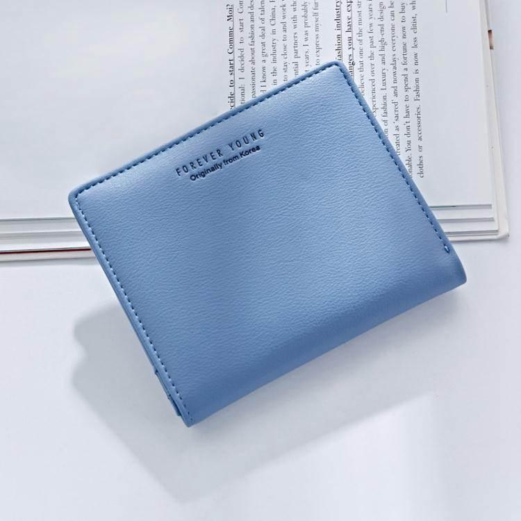 短錢夾小錢包女短款2020新款小清新兩折可愛零錢包超薄多卡位簡約錢夾潮