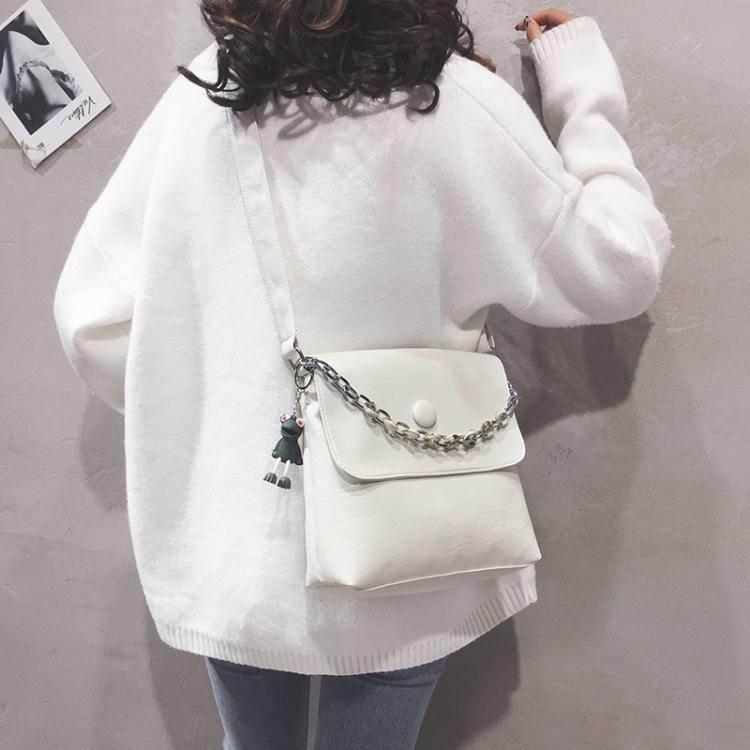 水桶包質感小包包女包新款2020可愛韓版pu水桶包休閒簡約百搭側背斜背包