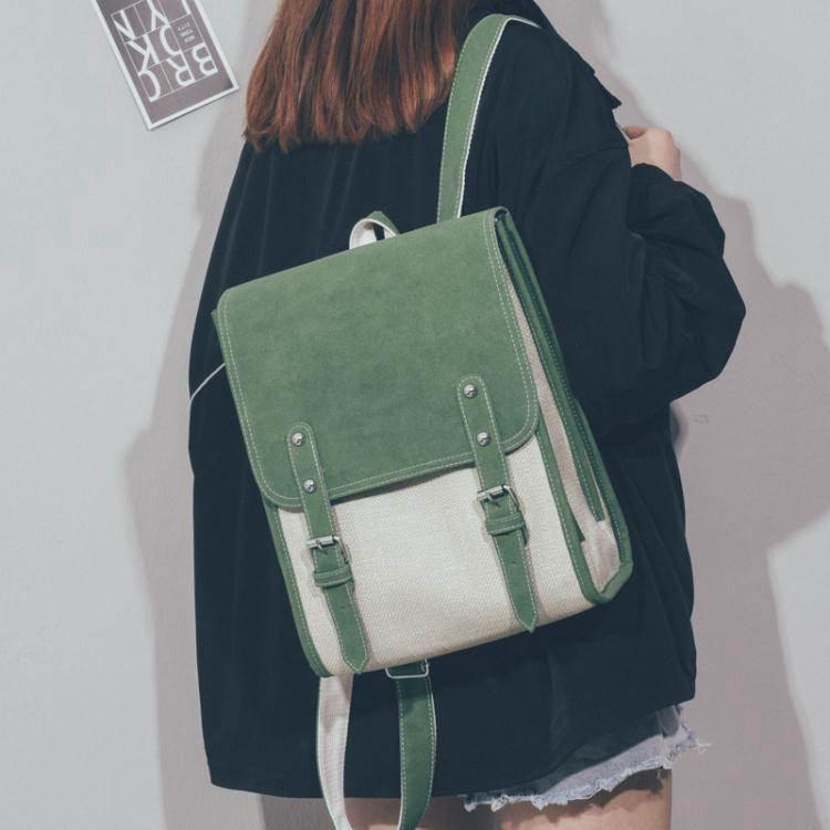 後背包書包女韓版高中原宿ulzzang大學生後背包2020新款簡約大容量背包