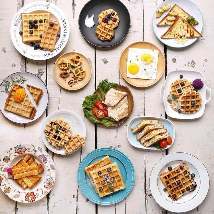 麵包機麥子廚房多功能早餐機三明治機華夫餅機寢室宿舍神器面包三文治機 LX