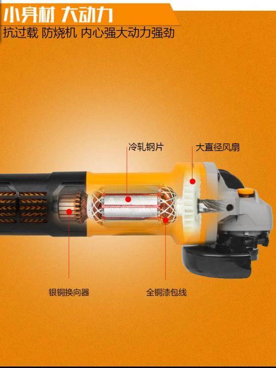 美國雷亞多功能家用磨光機手磨機拋光機打磨機切割機角磨LX