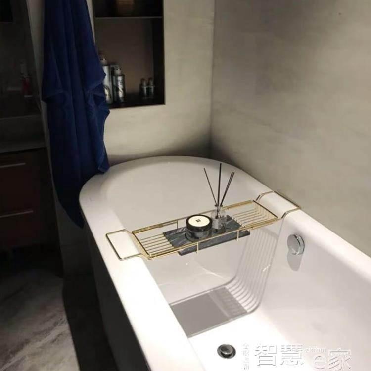 現貨-浴缸架浴缸架伸縮浴室置物架防滑多功能衛生間架子泡澡支架浴缸置LX 5-19 1