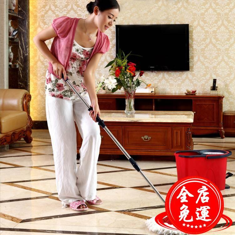 拖地桶拖把桶拖布桶墩布桶拖布托把旋轉式拖把家用免手洗干濕兩用WD 端午節粽子