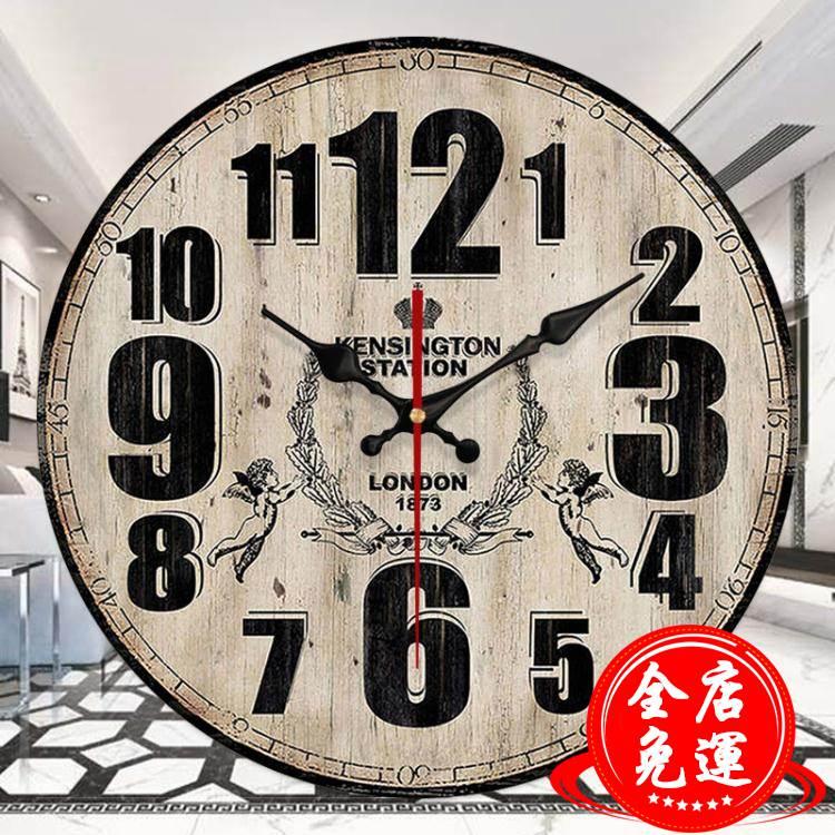 美式復古鐘錶網紅掛鐘客廳掛錶創意潮流牆鐘現代簡約錶家用時間鐘 HM 免運