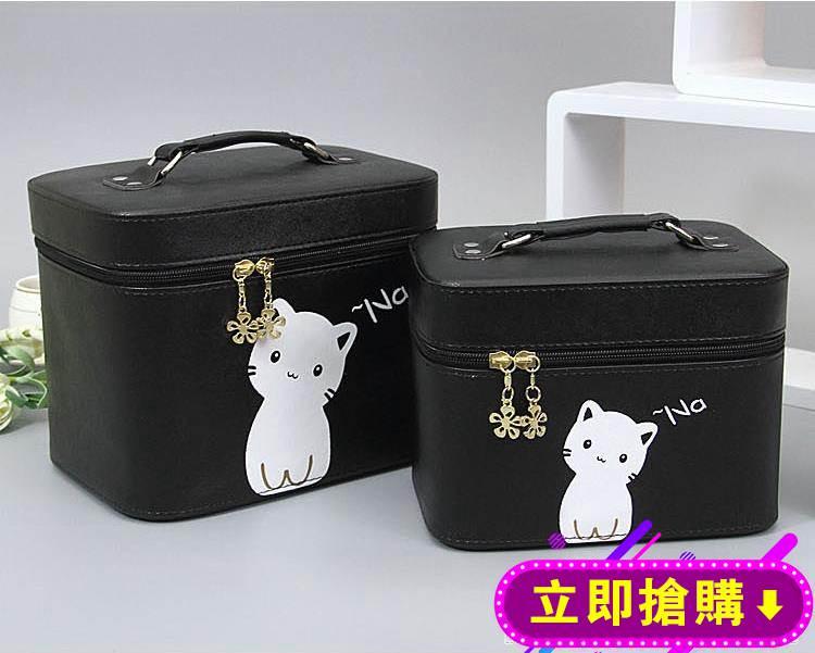 化妝包小號便攜大容量可愛多功能少女心化妝箱簡約網紅收納包 免運