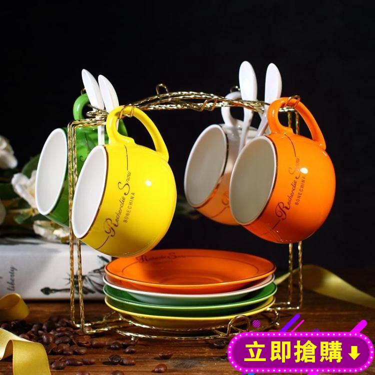 咖啡杯套裝 家用簡約陶瓷杯英式下午茶杯茶具歐式茶具6杯碟 YXS新年禮物