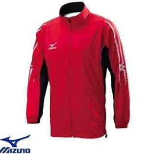 [陽光樂活]美津濃MIZUNO(男)針織運動套裝-上衣外套32TC603462(紅x深丈青)