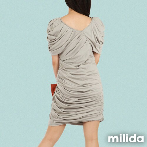 【Milida,全店七折免運】-夏季洋裝-造型款-甜美公主袖設計 7