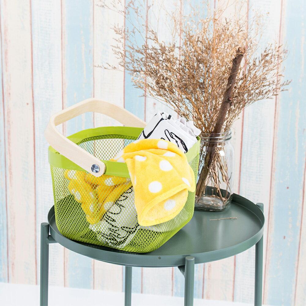 樂嫚妮系列 托盤茶几+可愛小提籃-多功能 收納籃 餐桌 床桌 邊桌 咖啡邊桌(茶几附腳套) 北歐鐵藝風