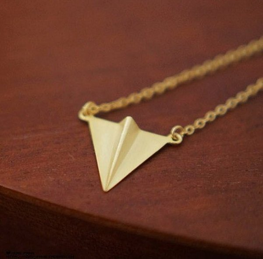 BIRDYEDGE真正純銀手工打造紙飛機純銀項鍊非20%是100%
