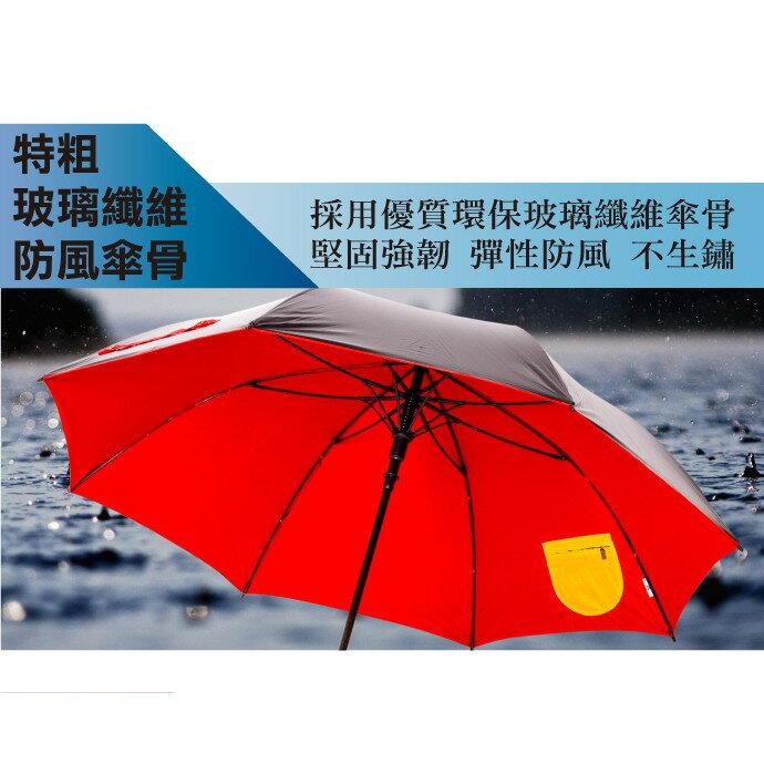 特大黑膠一鍵開晴雨傘