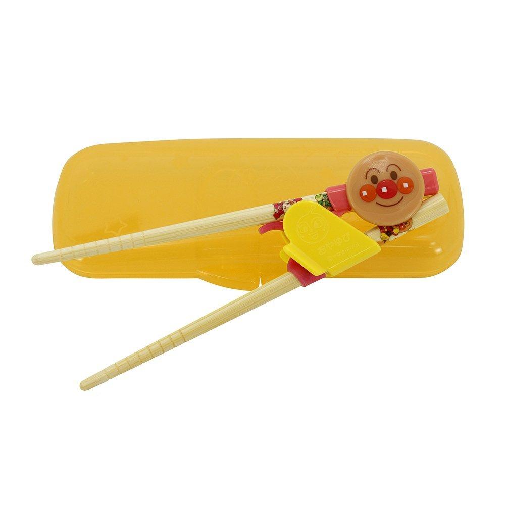 日本 ANPANMAN 麵包超人 幼兒學習筷 竹筷 附收納盒 2-4歲右手用 *夏日微風*