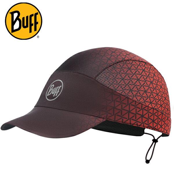 BuffFastwick急速排汗遮陽帽117283神秘菱格高防曬抗UV軟式摺疊帽路跑馬拉松健行登山
