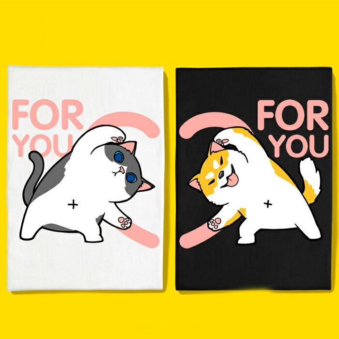 現貨 情侶裝 情侶T 潮T 圓領純棉T恤 MIT台灣製【Y0872】短袖 FOR YOU 愛心版合體柴犬賓士貓 0
