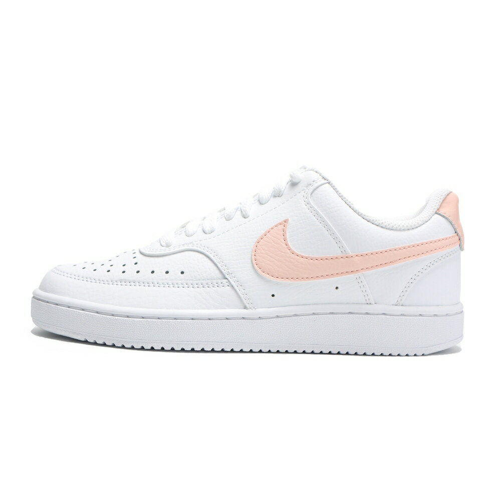 NIKE 休閒鞋 WMNS COURT LOW 白粉 皮革 女 (布魯克林) CD5434-105