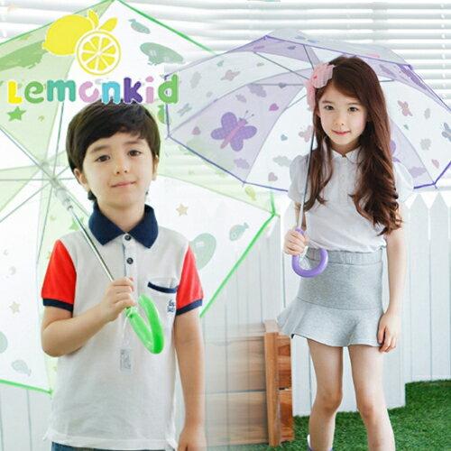 Lemonkid◆正韓可愛蝴蝶星球卡通動物造型兒童雨傘