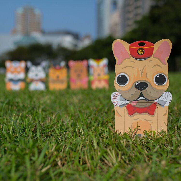 L號送報法鬥/備用接便器紙卡一張/便孔大、不漏接、易裝拆、免手拿/適合大型狗