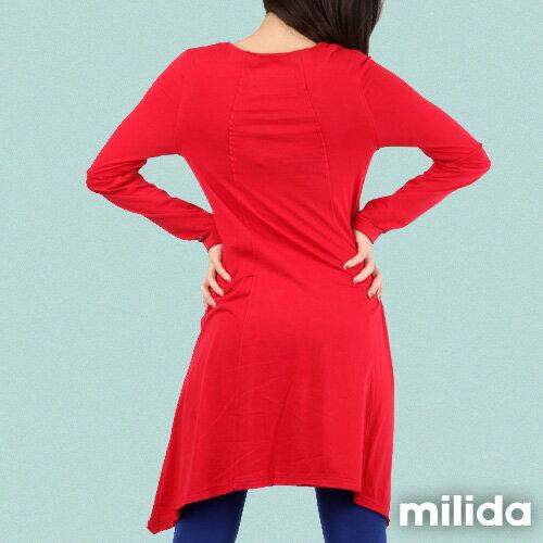 【Milida,全店七折免運】-秋冬單品-洋裝款-長版休閒風 1