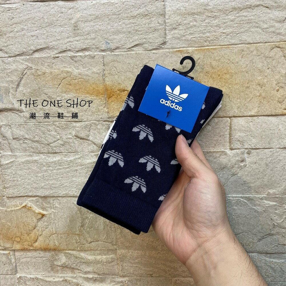 adidas  THIN CR SOCK 愛迪達 襪子 長襪 長筒襪 運動襪 籃球襪 滿版 三葉草 二入裝 GN3104